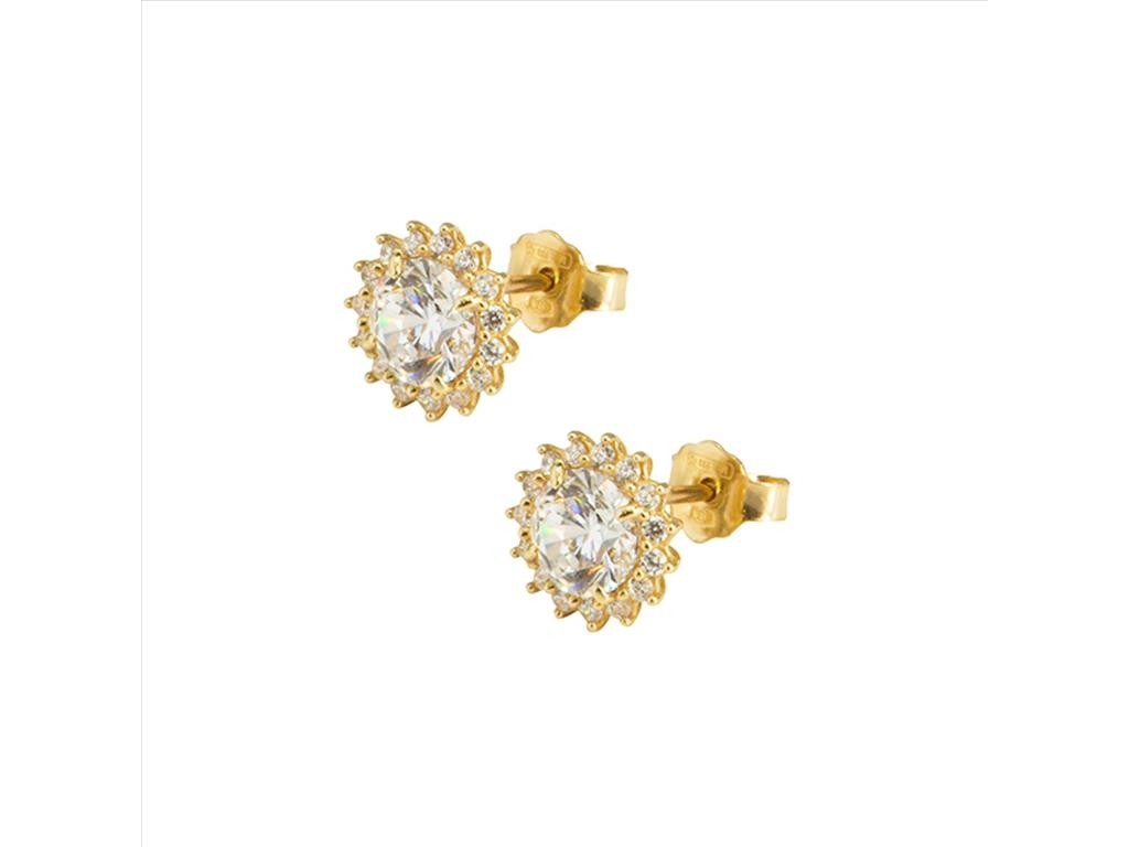 Rosetta Stud Earrings 14k Yellow Gold